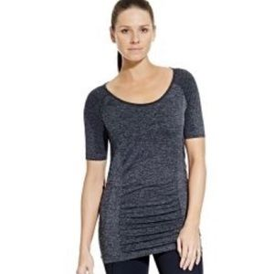 Calia Carrie Underwood Gray Ruched Shirt Large